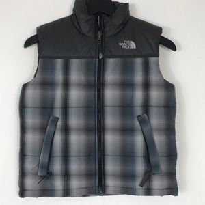 The North Face Youth Plaid Vest Rare 7/8